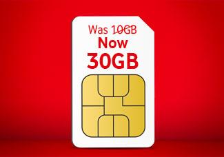 30GB SIM card for £15 Bundle