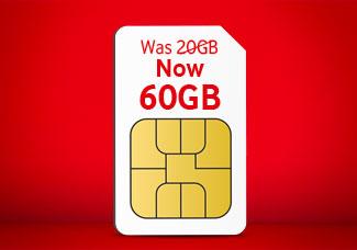 60GB SIM card for £20 Bundle