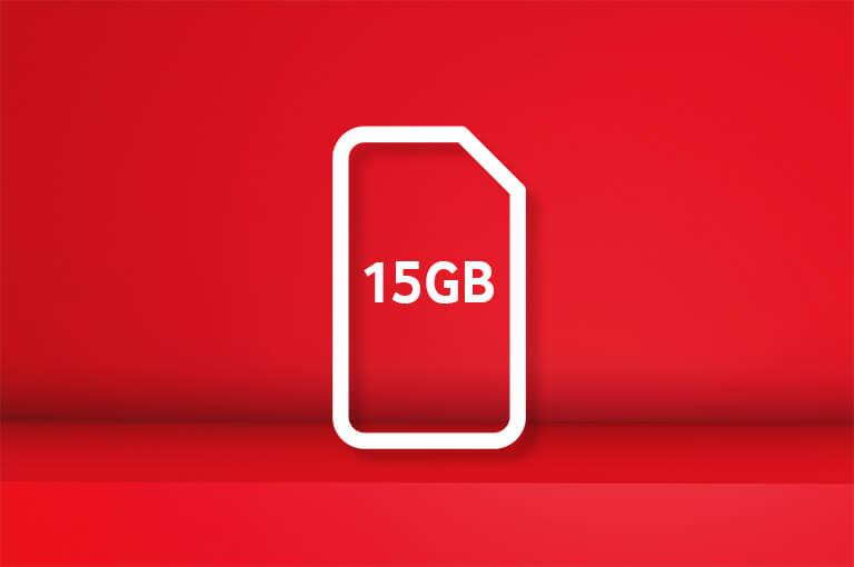 15GB SIM card for £15 bundle