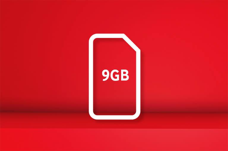 9GB SIM card for £10 bundle