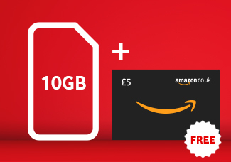10GB SIM card for £20 Bundle + £5 Amazon Gift Card free