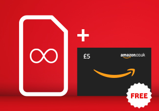 Unlimited SIM card for £50 Bundle + £5 Amazon Gift Card free