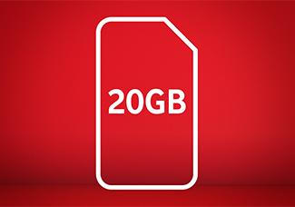 20GB SIM card for £20 Bundle