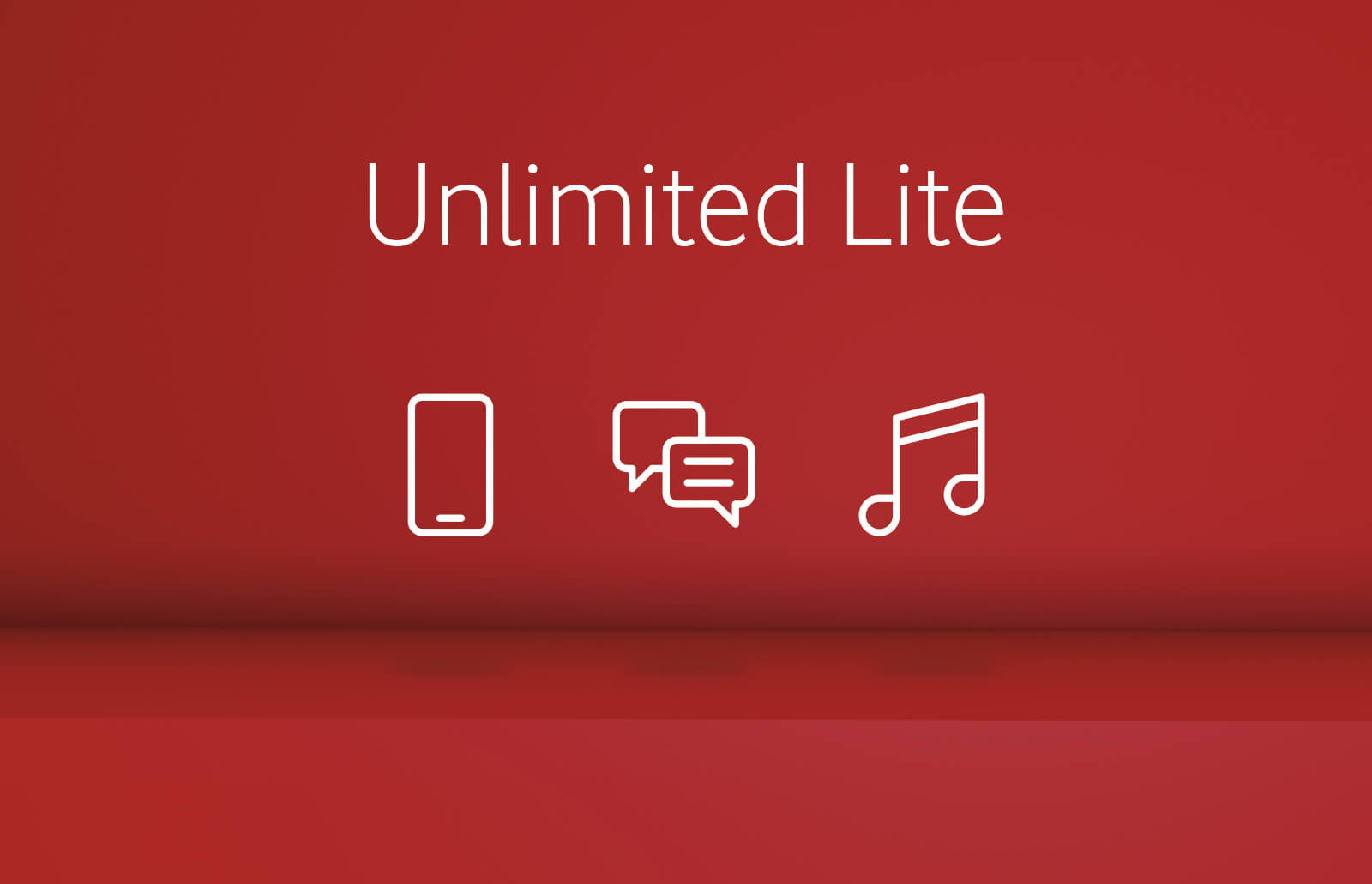 Unlimited lite plan icons