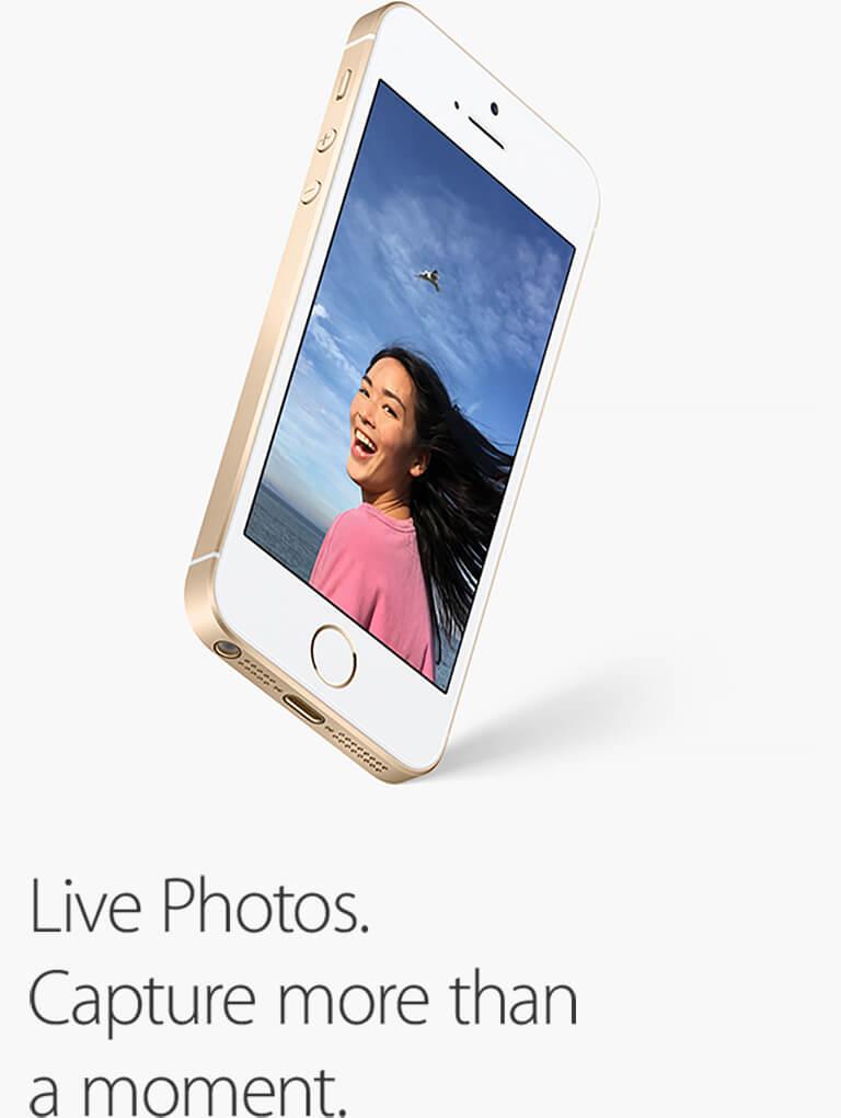 Live Photos. Capture more than a moment.