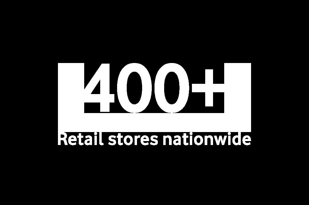 400+ UK retail stores