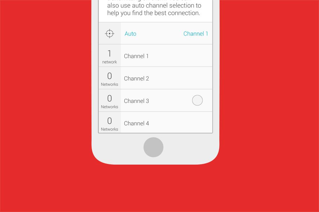Broadband help - Select channel step 4