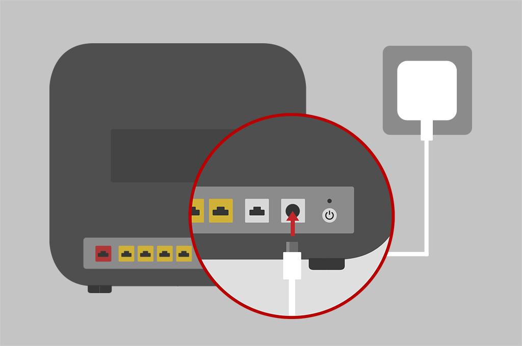 Broadband help - Set up router step 1