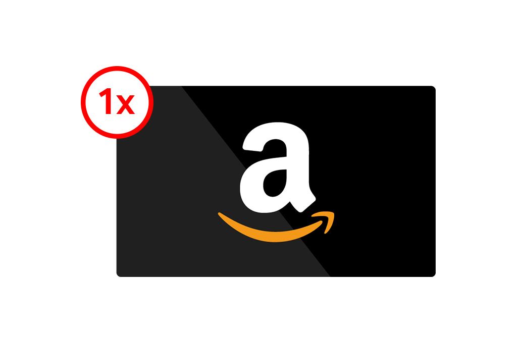 1x £1000 Amazon Gift Card