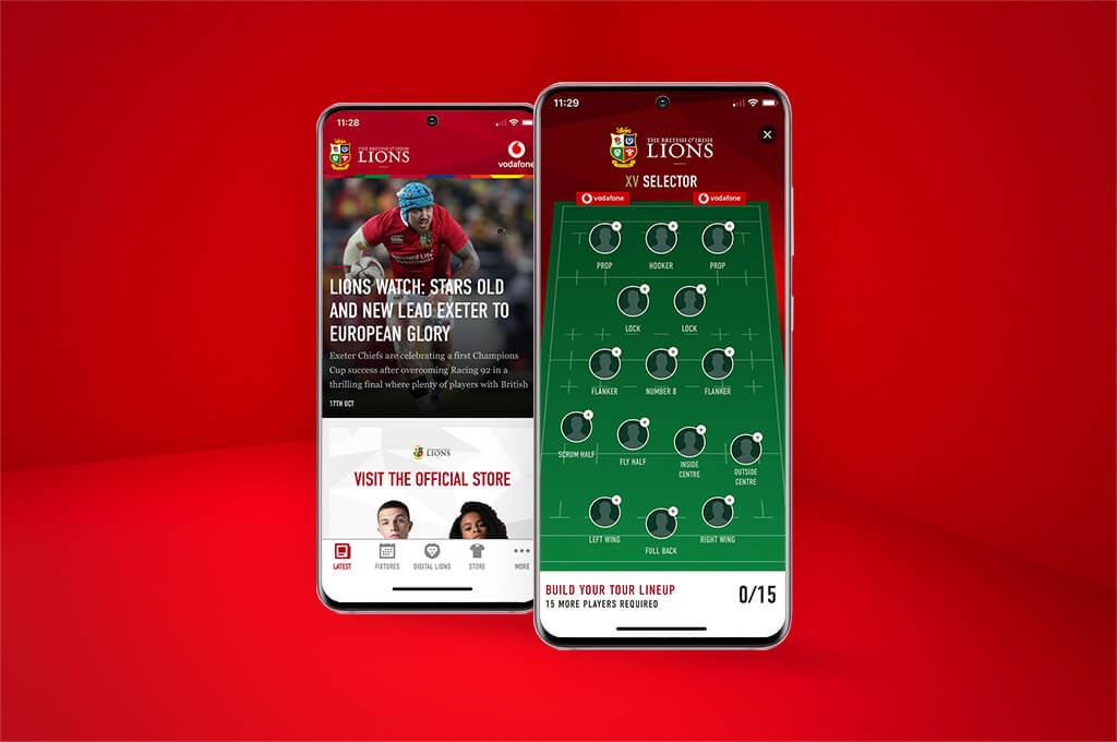 Select your 2021 squad with the official British & Irish Lions app