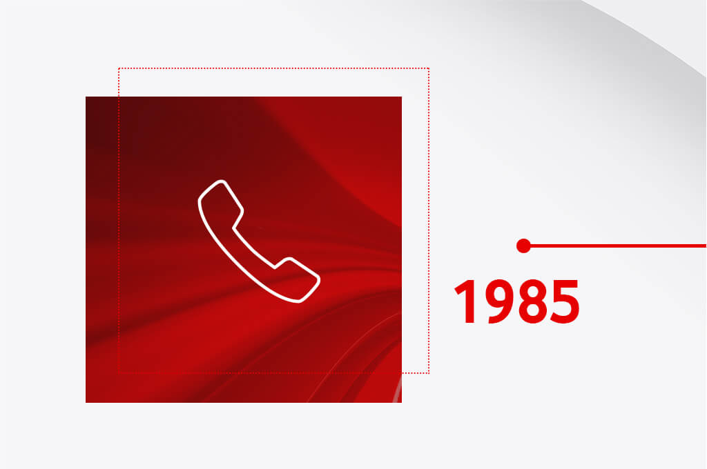1985 - The first mobile call