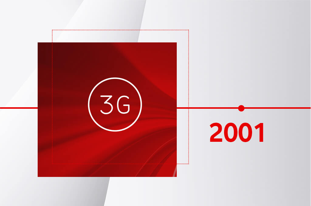 2001 - The first 3G voice call