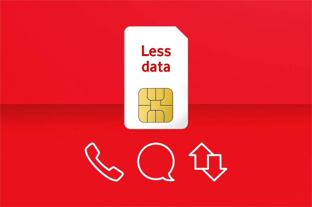 Less data SIM card