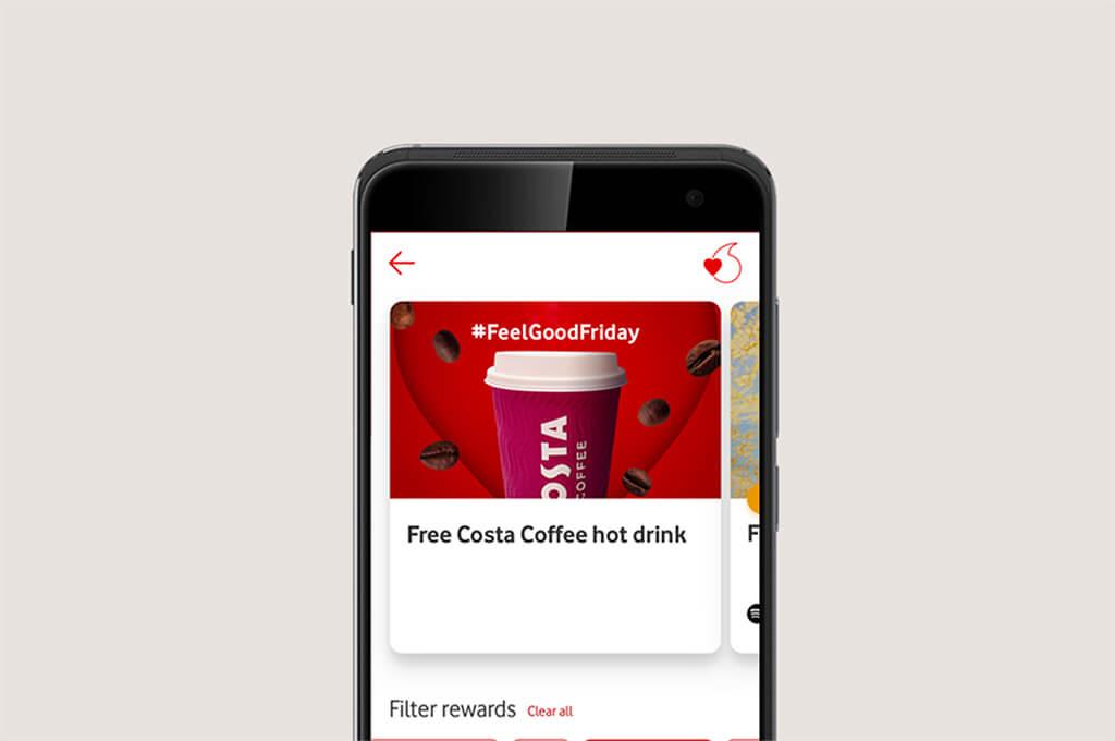 VeryMe Rewards on the My Vodafone app