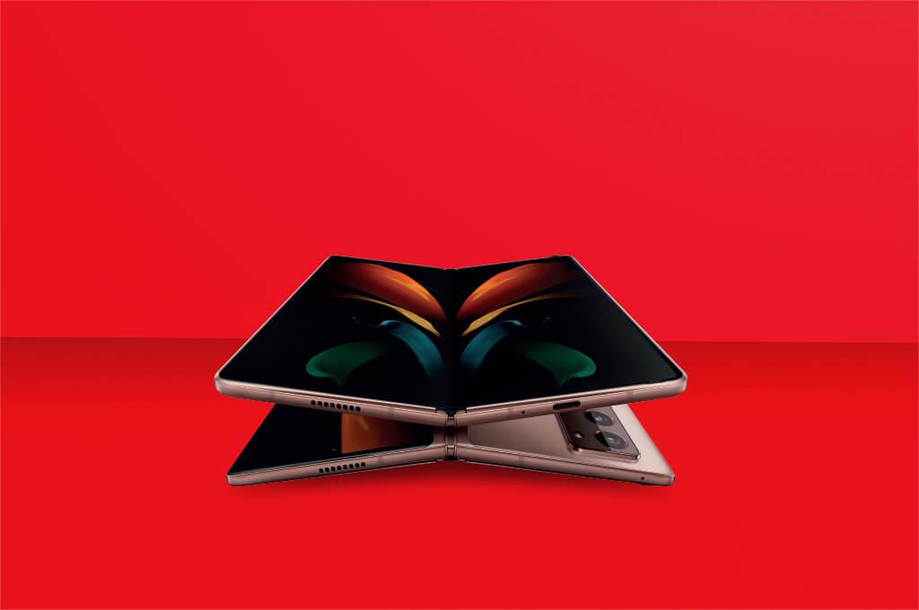 Galaxy Z Fold2 5G's screen