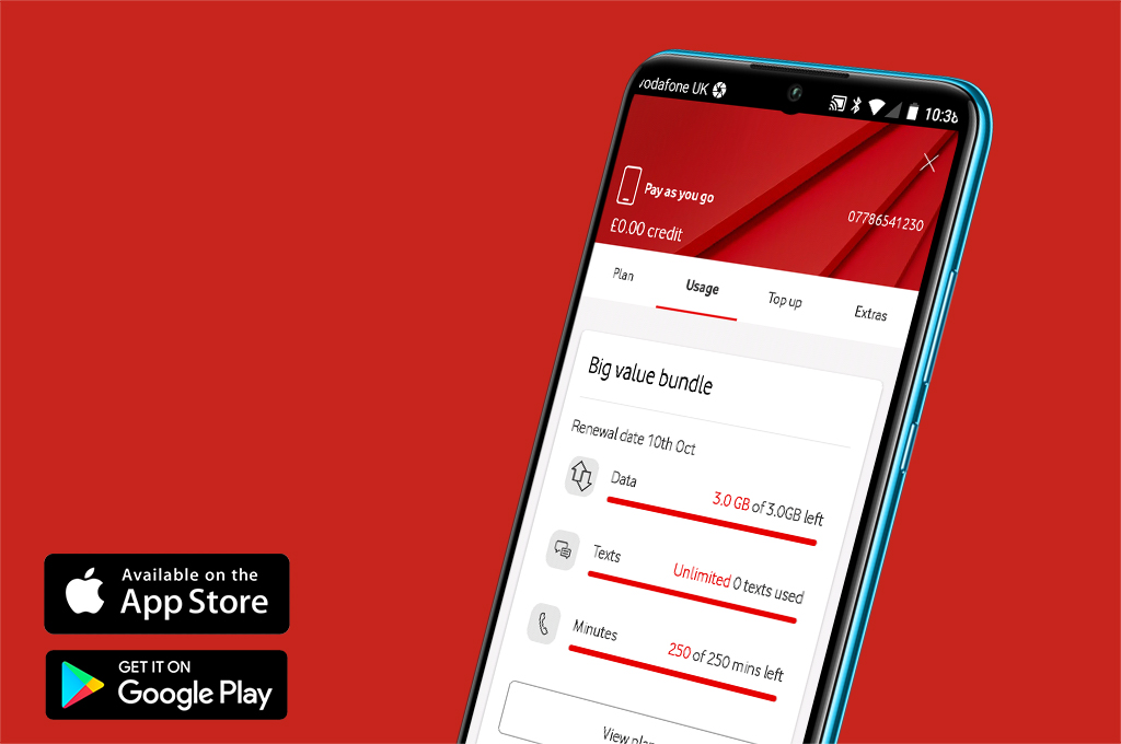 Manage your bundle with My Vodafone