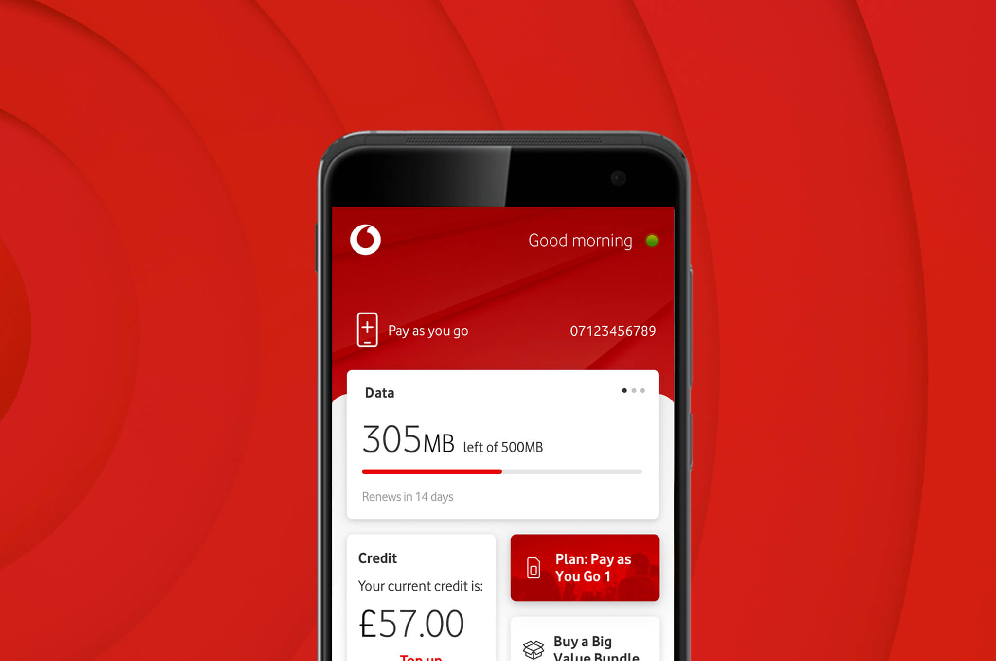 Download the My Vodafone app | Your account, on tap
