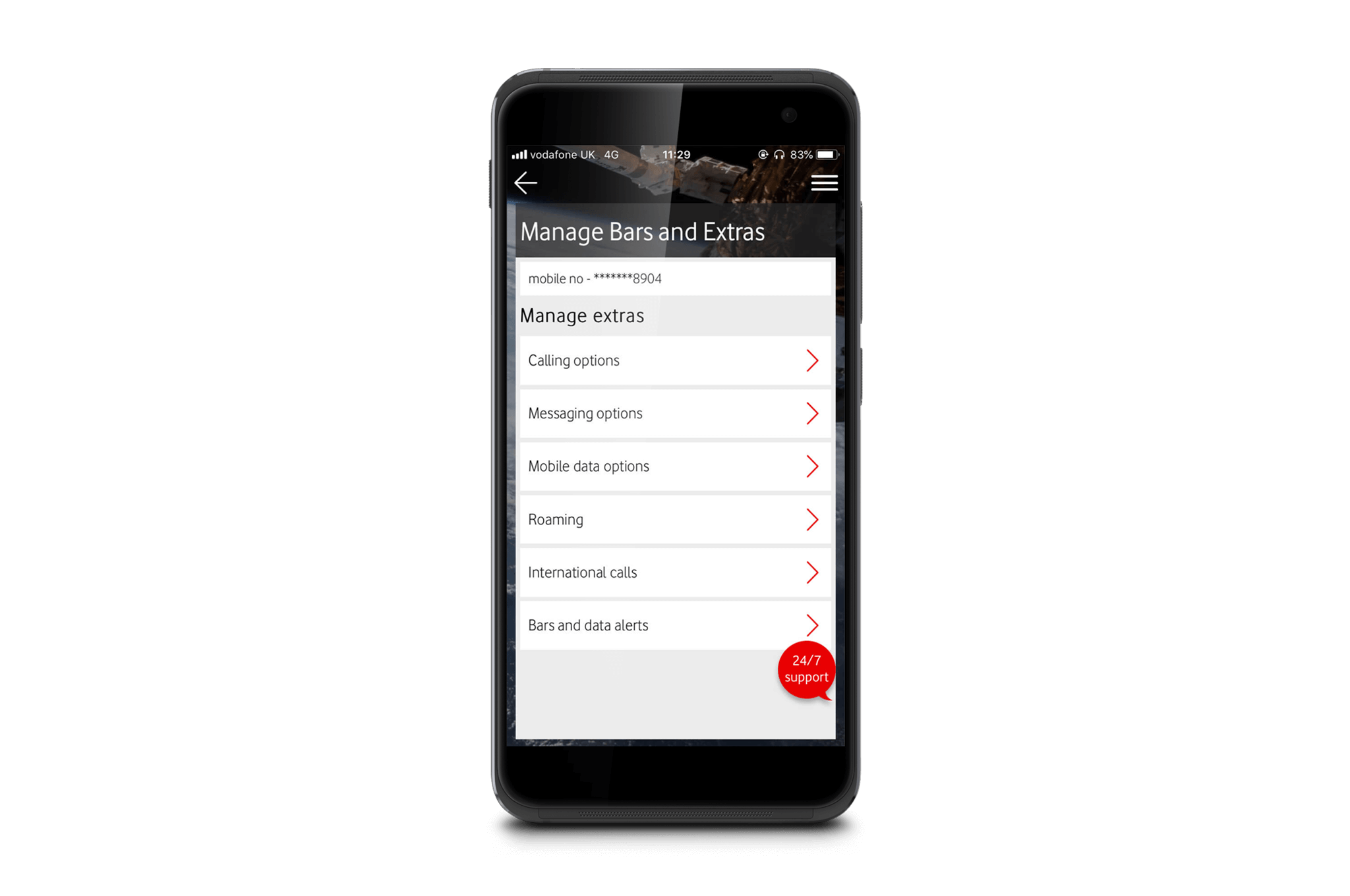 Download the My Vodafone app   Your account, on tap