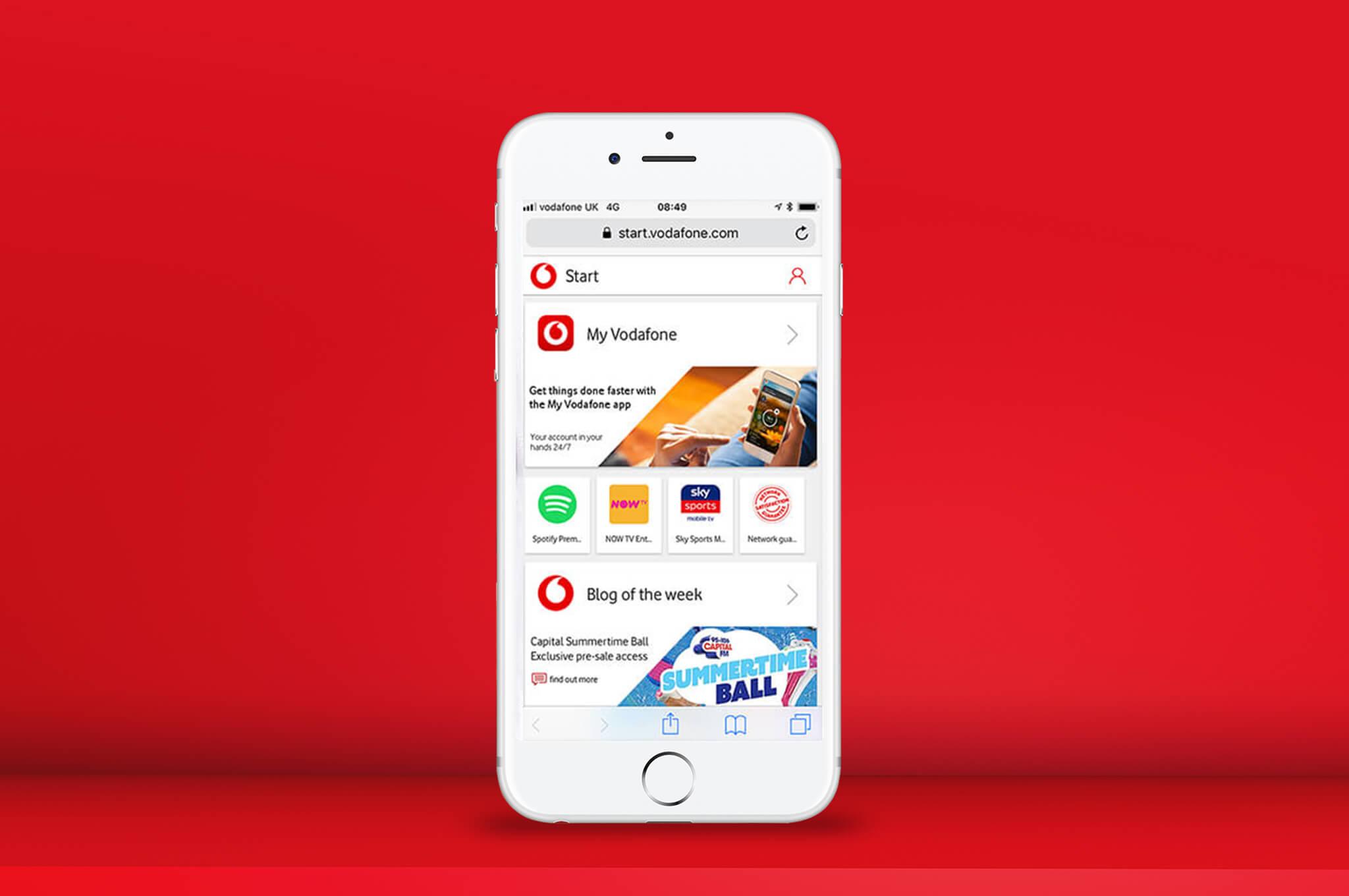 Vodafone Start | Start making the most of us